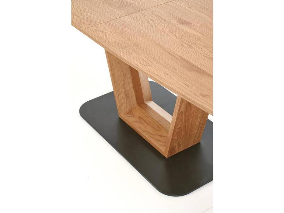 Halmar: Blacky: стол обеденный раскладной (дуб золотой)