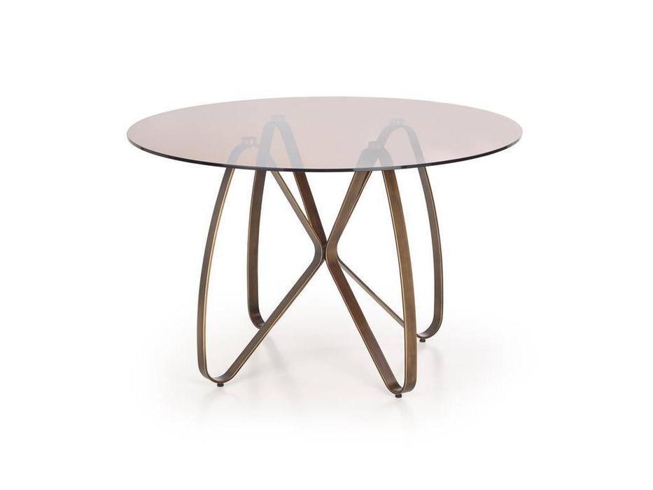 Halmar: Lungo: стол обеденный  (коричневый, античное золото)