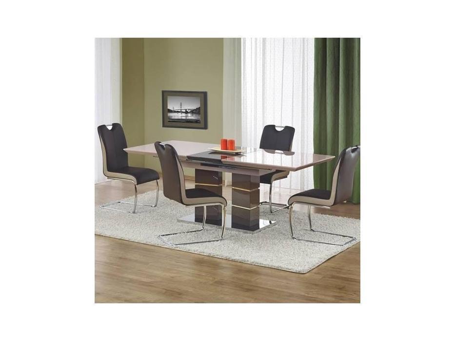 Halmar: Lord: стол обеденный раскладной (серый)