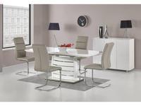 Halmar: Onyx: стол обеденный раскладной (белый)