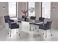 Halmar: Anderson: стол обеденный раскладной (черно-белый)