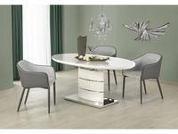 Halmar: Aspen: стол обеденный раскладной (белый)