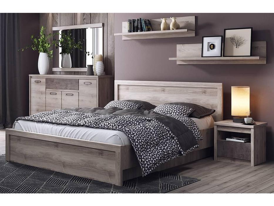 Anrex: Jazz: кровать с подъемным механизмом 140х200 (каштан найроби)
