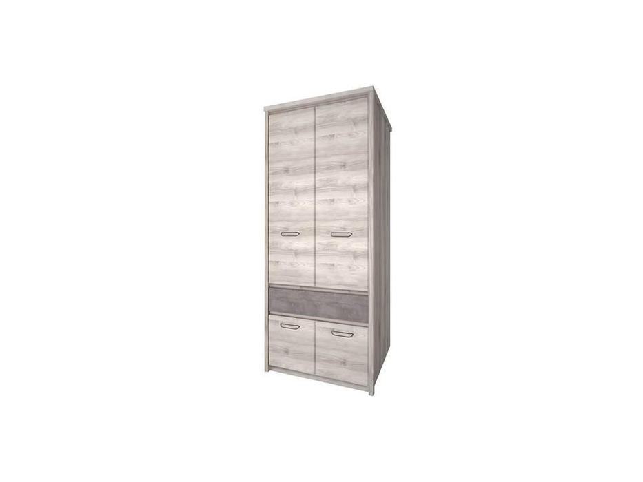 Anrex: Jazz: шкаф 2 дверный (каштан, оникс)