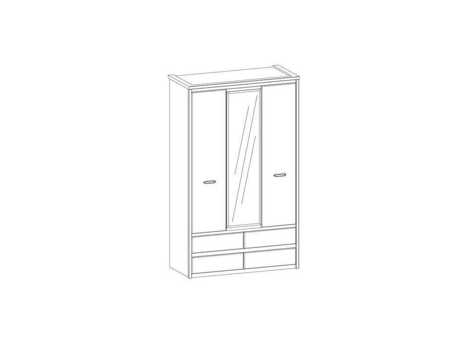 Anrex: Jazz: шкаф 3 дверный (каштан, оникс)