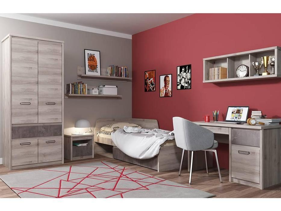 Anrex: Jazz: спальная комната 120х200 (каштан найроби, оникс)