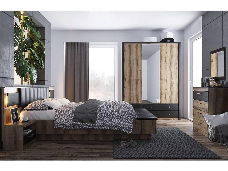 Anrex: Jagger: спальная комната (дуб,черный)
