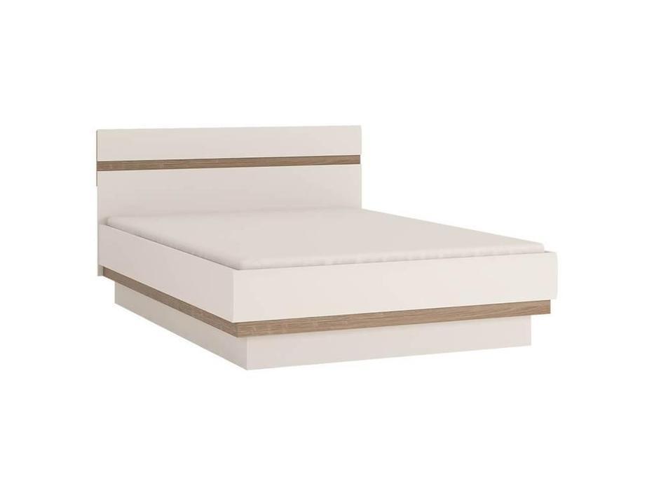 Anrex: Linate: кровать 140х200 (белый лак, сонома)