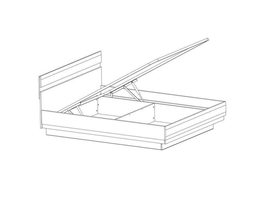 Anrex: Linate: кровать с подъемным механизмом 160х200 (белый лак, сонома)