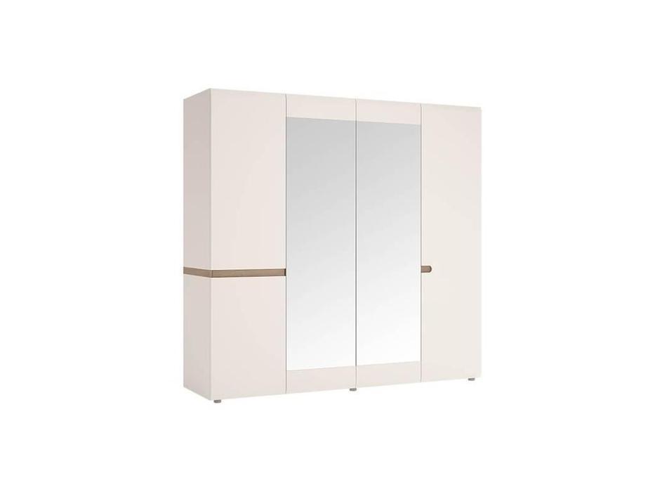 Anrex: Linate: шкаф 4 дверный (белый лак, сонома)