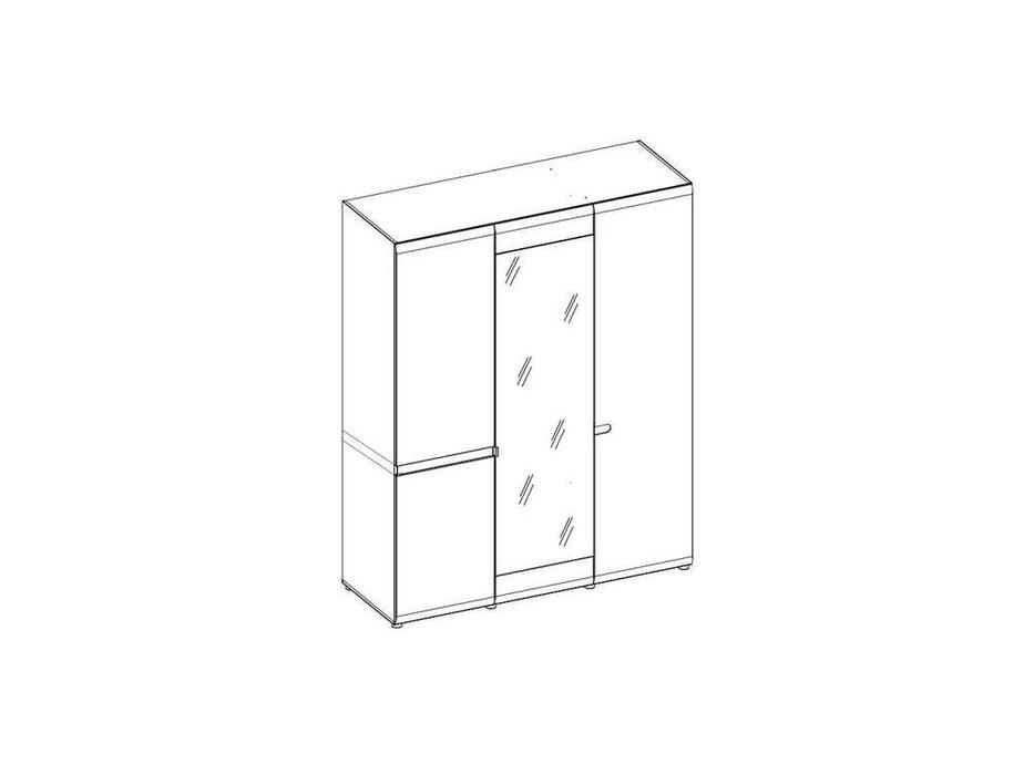 Anrex: Linate: шкаф 3 дверный (белый лак, сонома)