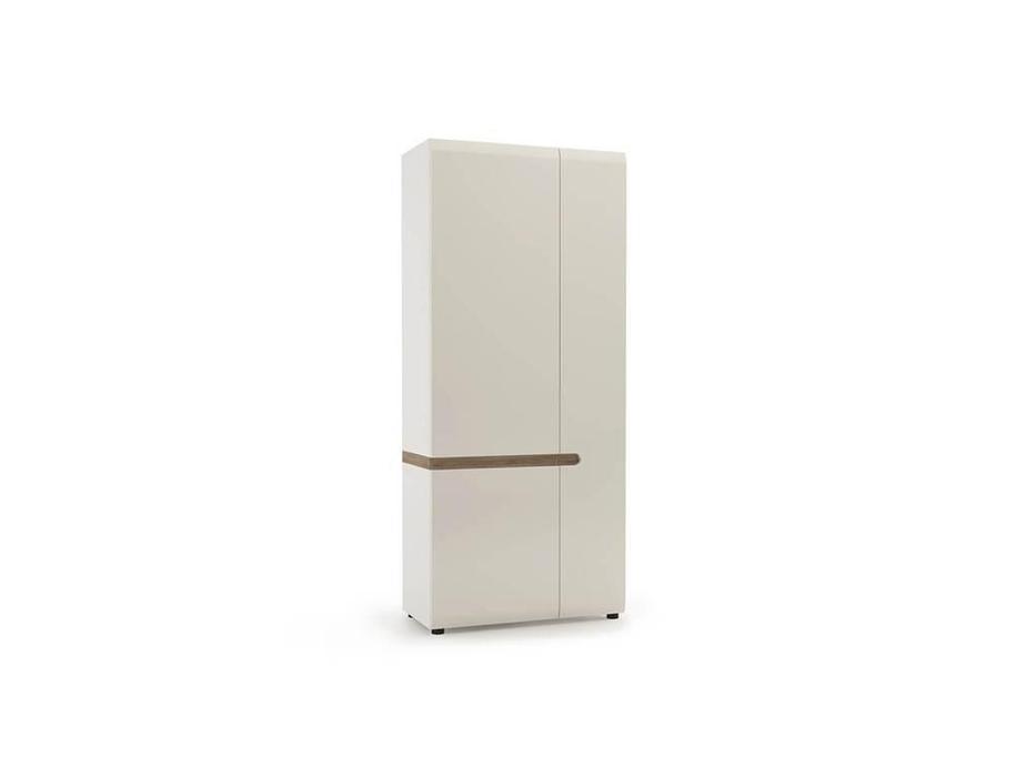 Anrex: Linate: шкаф 2 дверный (белый лак, сонома)