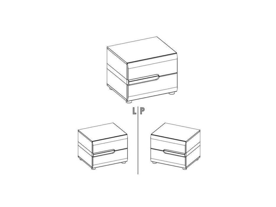 Anrex: Linate: тумба прикроватная (белый лак, сонома)