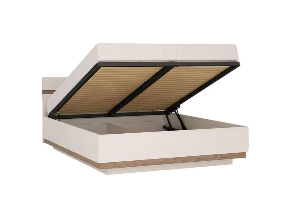 Anrex: Linate: кровать 140х200 с подъемным механизмом (белый лак, сонома)