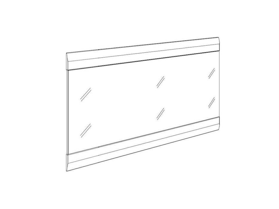 Anrex: Linate: зеркало (белый лак, сонома)