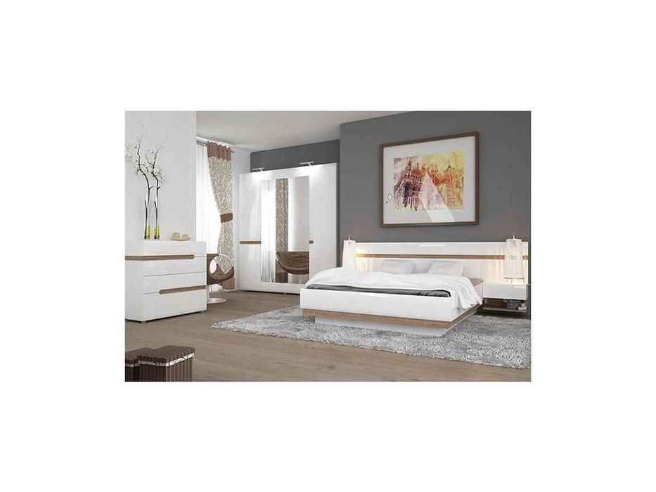 Anrex: Linate: спальная комната (белый лак, сонома)