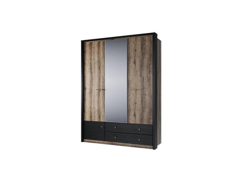 Anrex: Jagger: шкаф 3 дверный (дуб,черный)