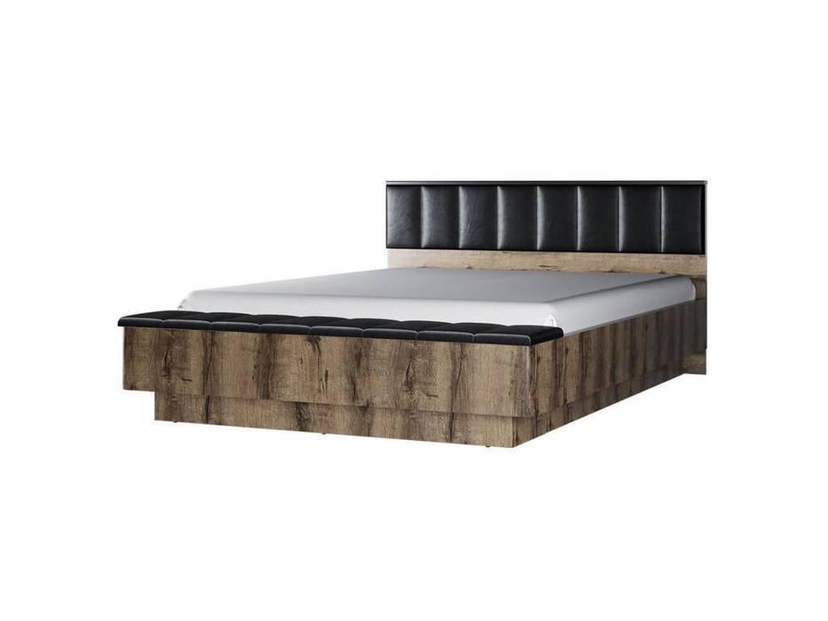 Anrex: Jagger: кровать 160х200 с подъемным механизмом (дуб,экокожа)