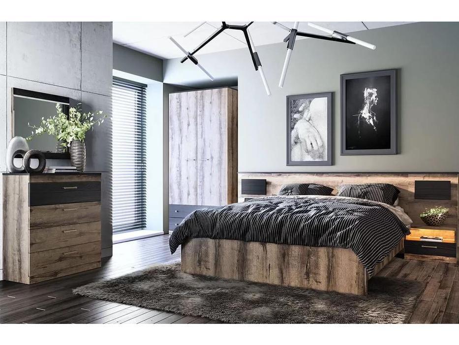 Anrex: Jagger: кровать с подъемным механихмом 160х200 (дуб)