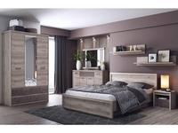Anrex: Jazz: спальная комната 160х200 (каштан найроби, оникс)