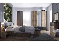 Anrex: Jagger: спальная комната 160х200  (дуб,черный)