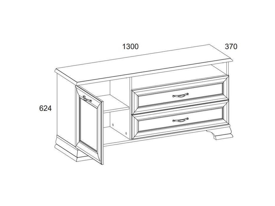 Anrex: Tiffany: тумба под телевизор  (вудлайн кремовый)