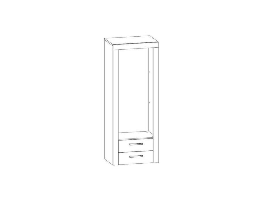 Anrex: Oskar: витрина низкая - модуль  (дуб санремо)