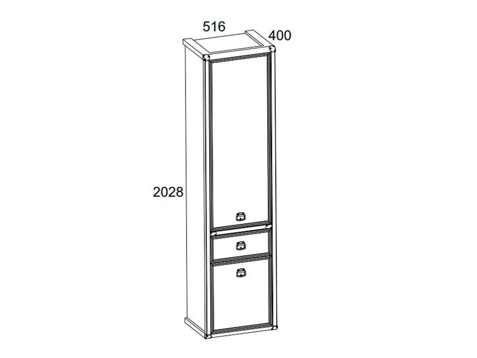 Anrex: Magellan: шкаф 1 дверный  (сосна винтаж)