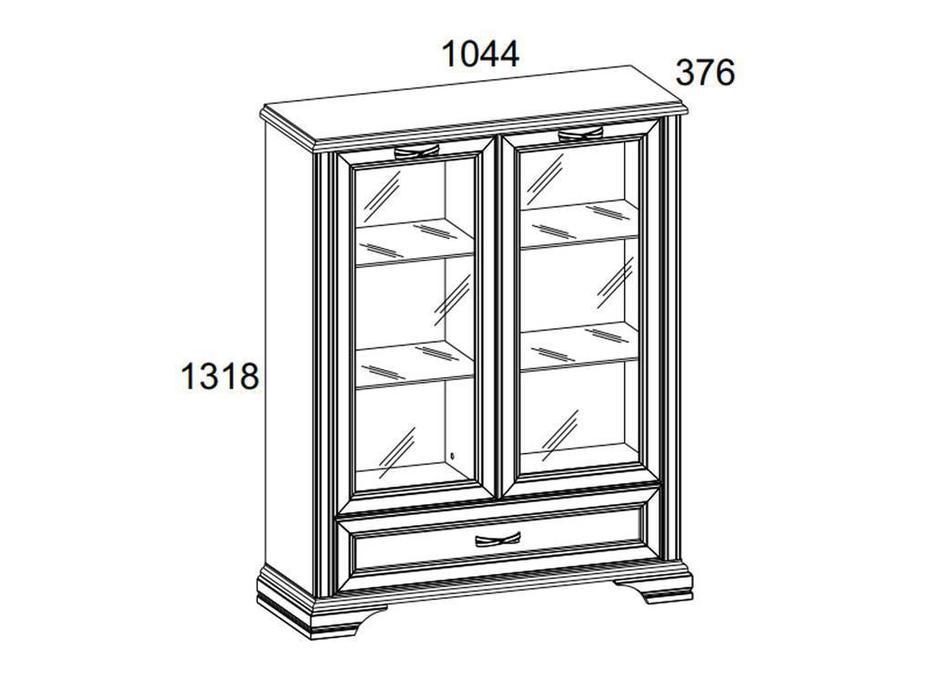 Anrex: Monako: витрина низкая  (сосна винтаж, дуб анкона)