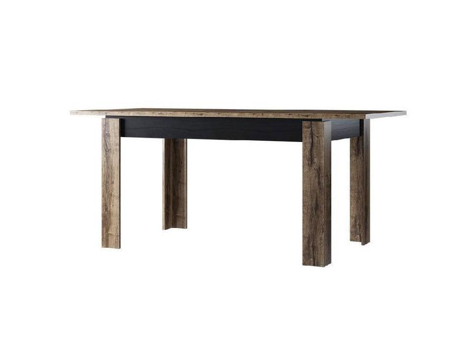 Anrex: Jagger: стол обеденный раскладной (дуб монастарский,черный)