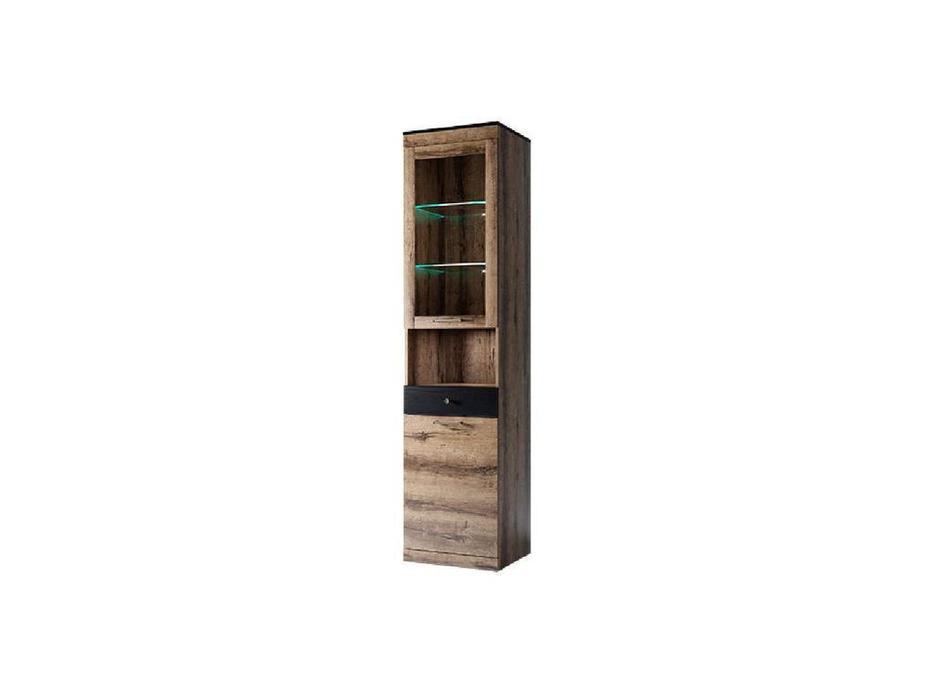 Anrex: Jagger: витрина 1 дверная (дуб монастарский,черный)