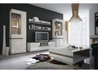Anrex: Linate: стенка в гостиную (белый, сонома трюфель)