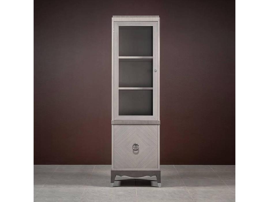 RFS: Монте-Карло: шкаф книжный  1 дв. (дуб дымчатый, пепельный)