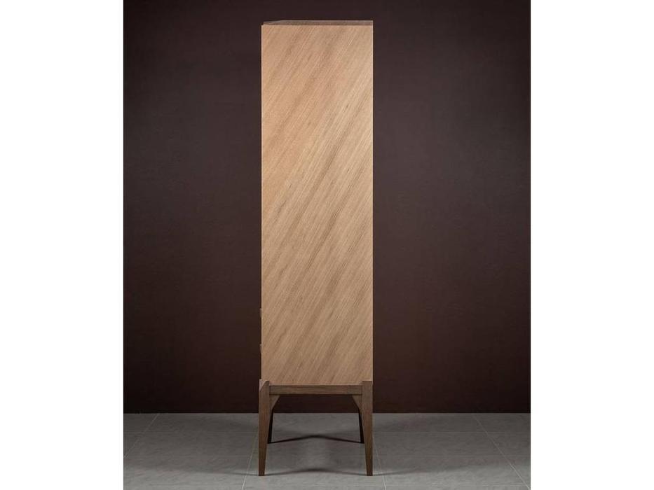 RFS: Барселона: витрина 1 дверная  правая (дуб медовый, серокоричневый)