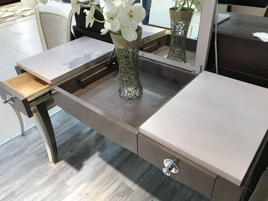 RFS: Монте-Карло: стол туалетный  с зеркалом (дуб медовый, серо коричневый)