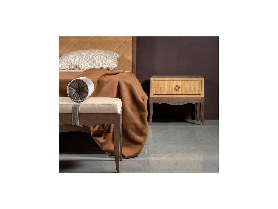 RFS: Монте-Карло: тумба прикроватная  (дуб медовый, серо коричневый)