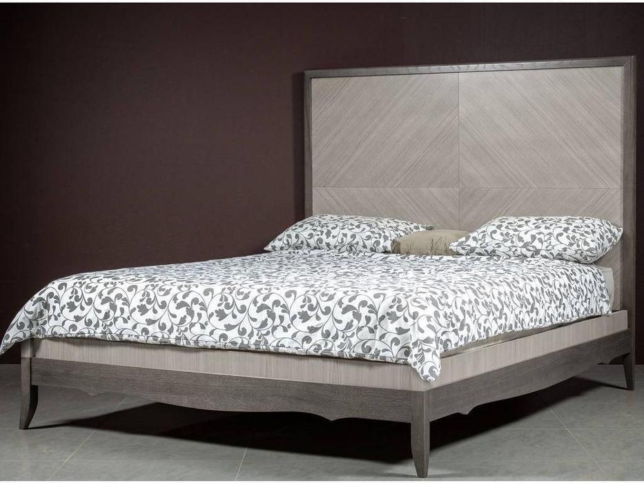 RFS: Монте-Карло: кровать 160х200  (дуб дымчатый, пепельный)