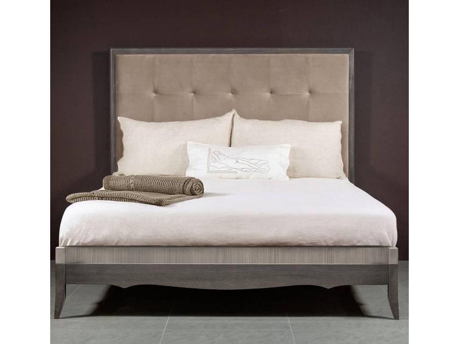 RFS: Монте-Карло: кровать 160х200 с мягким изголовьем (дуб дымчатый, пепельный)
