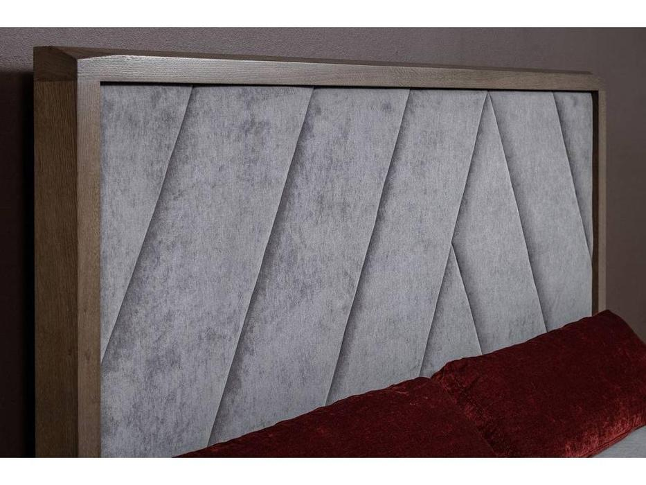 RFS: Барселона: кровать 160х200 с мягким изголовьем (дуб медовый, серокоричневый)