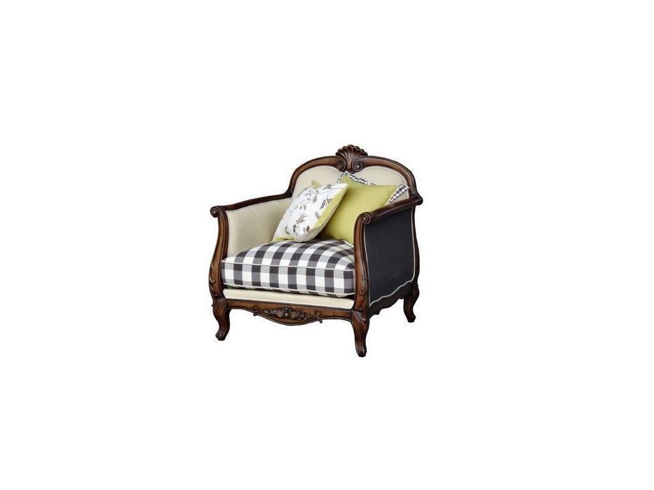 CUF Limited: San Teodoro: кресло  (D71 коричневый, ткань #58, 59)