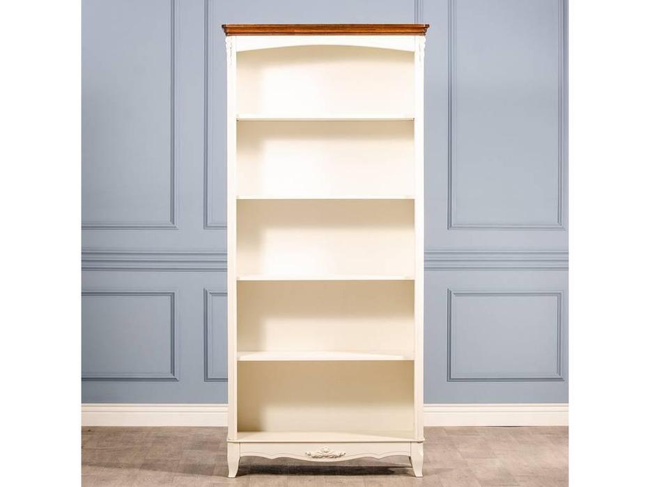 CUF Limited: San Teodoro: шкаф книжный  открытый (D71+M01, топ орех, белый корпус)