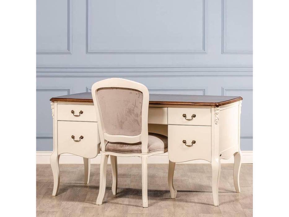 CUF Limited: San Teodoro: стол письменный  (D71+M01, топ орех, белый корпус)