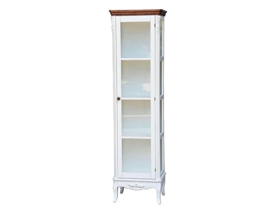 CUF Limited: San Teodoro: витрина 1 дверная  (D71+M01, топ орех, белый корпус)