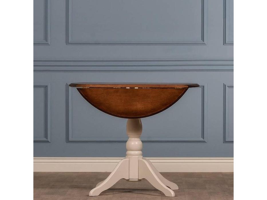 CUF Limited: San Teodoro: стол обеденный  (D71+M01, топ орех, белый корпус)