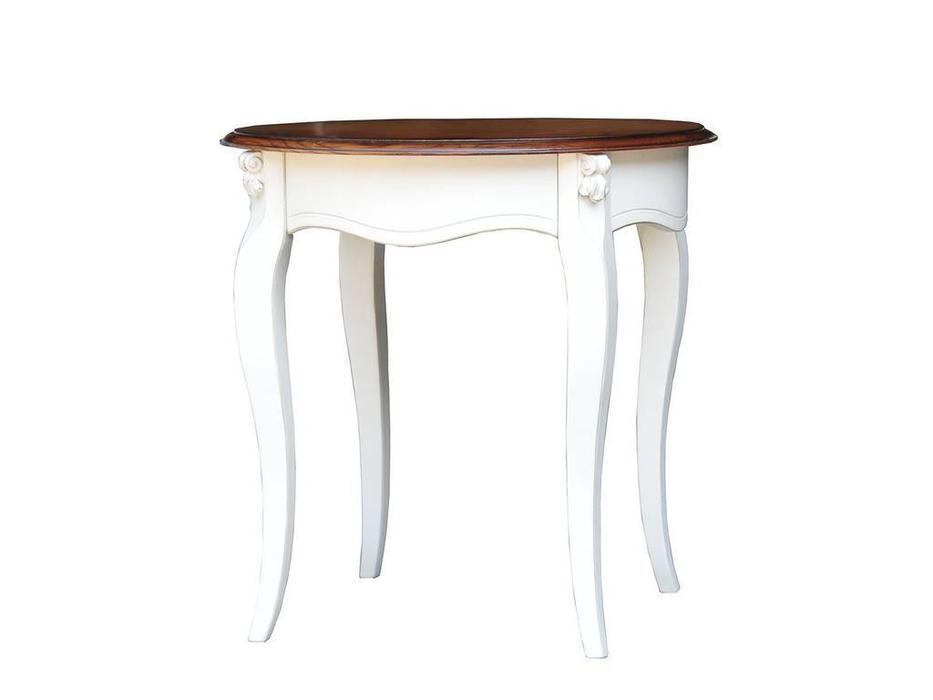 CUF Limited: San Teodoro: стол кофейный  (D71+M01, топ орех, белый корпус)