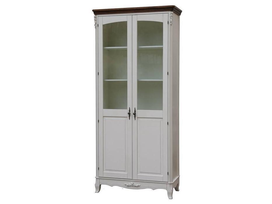 CUF Limited: San Teodoro: витрина 2 дверная  (D71+M01, топ орех, белый корпус)