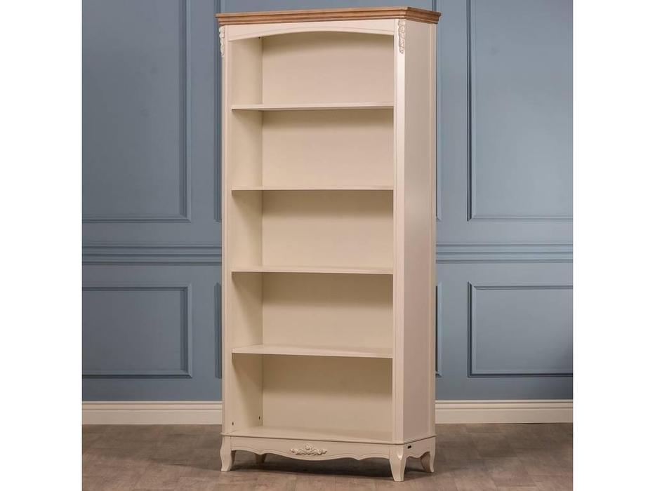 CUF Limited: Siena: шкаф книжный  открытый (M02+M01, бежевый топ, белый корпус)