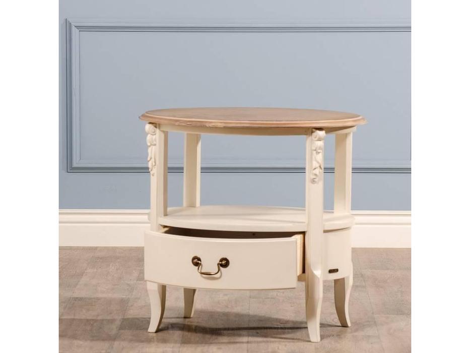 CUF Limited: Siena: стол журнальный  (M02+M01, бежевый топ, белый корпус)