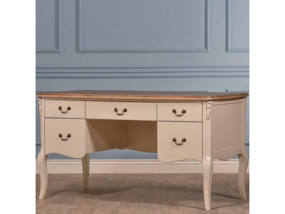 CUF Limited: Siena: стол письменный  (M02+M01, бежевый топ, белый корпус)