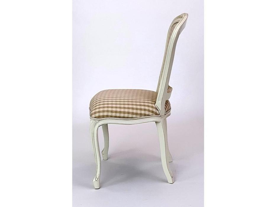 CUF Limited: Siena: стул  (M01 белый, ткань B1501-74)
